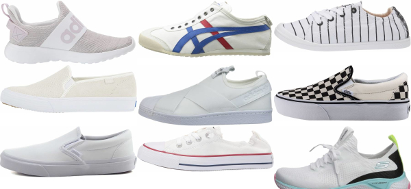 buy white slip-on sneakers for men and women