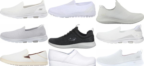 buy white slip-on walking shoes for men and women