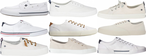 buy white sperry  sneakers for men and women