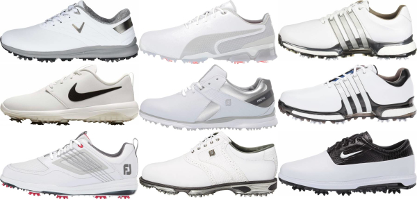 buy white spiked golf shoes for men and women