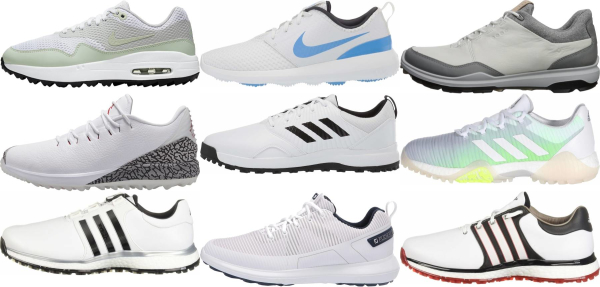 buy white spikeless golf shoes for men and women