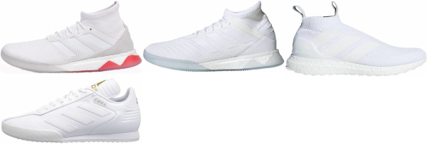 buy white street soccer cleats for men and women