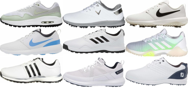 buy white synthetic upper golf shoes for men and women