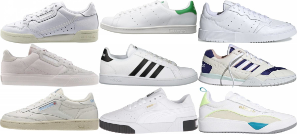 buy white tennis sneakers for men and women