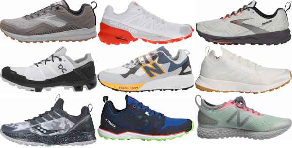 buy white trail running shoes for men and women