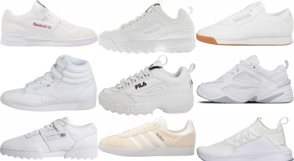 buy white training sneakers for men and women
