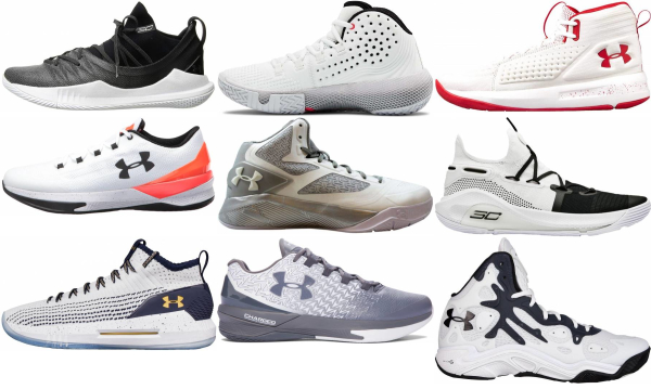buy white under armour basketball shoes for men and women