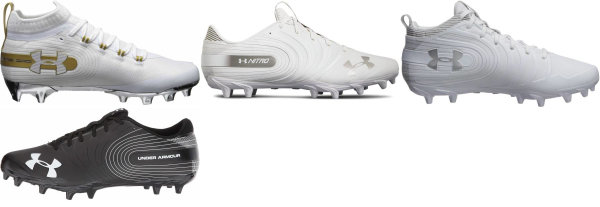 buy white under armour football cleats for men and women