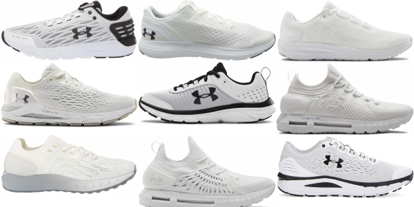 buy white under armour running shoes for men and women