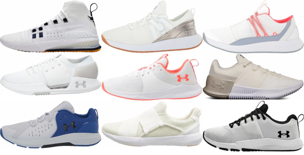 buy white under armour training shoes for men and women