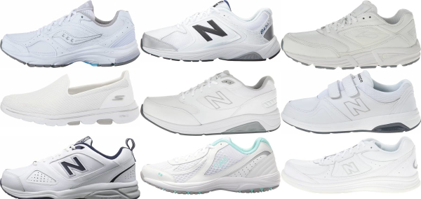 buy white walking shoes for men and women