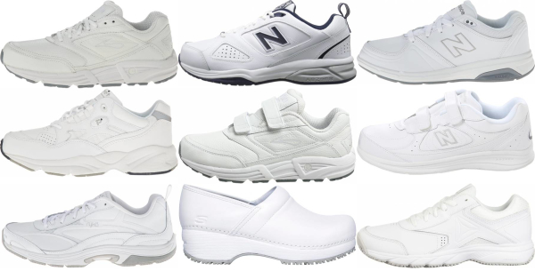 buy white work walking shoes for men and women