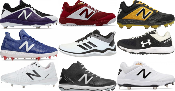 buy wide baseball cleats for men and women