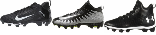 buy wide cheap football cleats for men and women