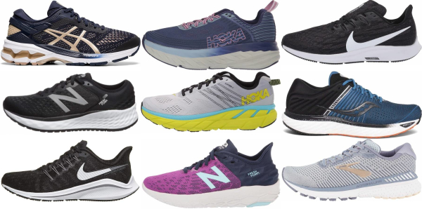 buy wide cushioned running shoes for men and women