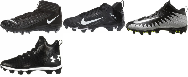 buy wide football cleats for men and women