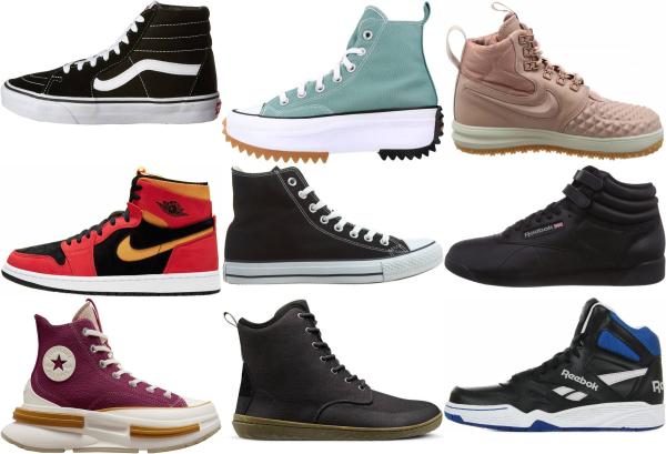 buy wide high top sneakers for men and women
