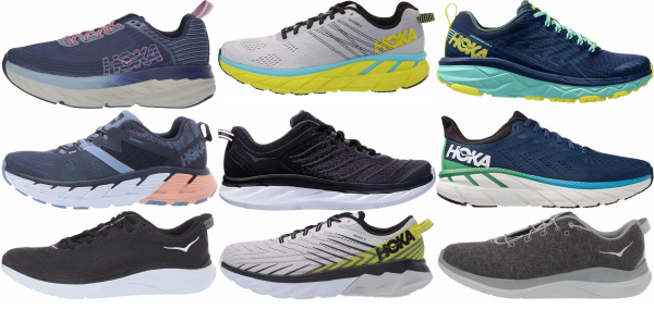 buy wide hoka one one running shoes for men and women