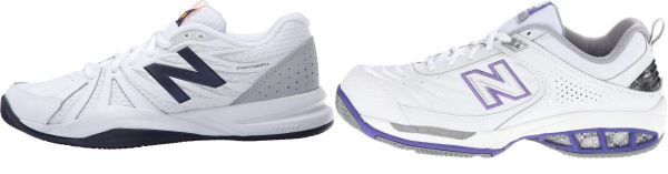 buy wide leather upper tennis shoes for men and women