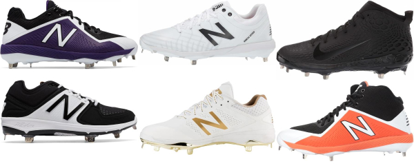 buy wide metal baseball cleats for men and women