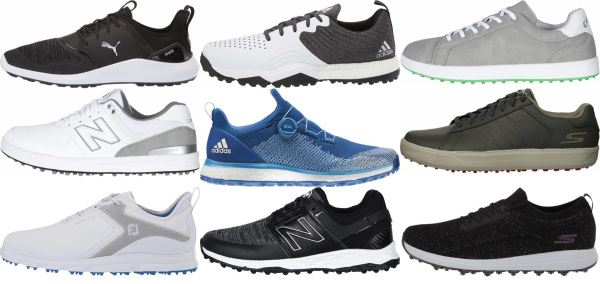 buy wide spikeless golf shoes for men and women