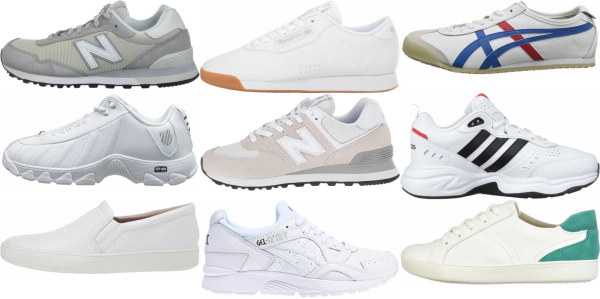 buy wide white sneakers for men and women