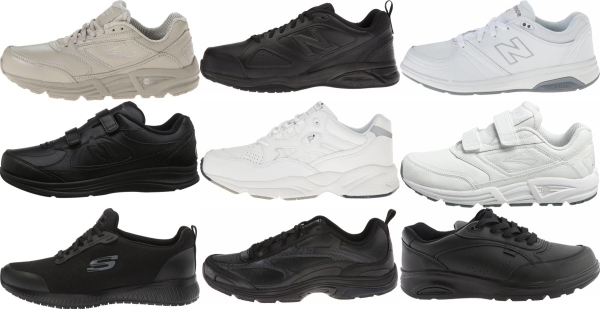 buy wide work walking shoes for men and women