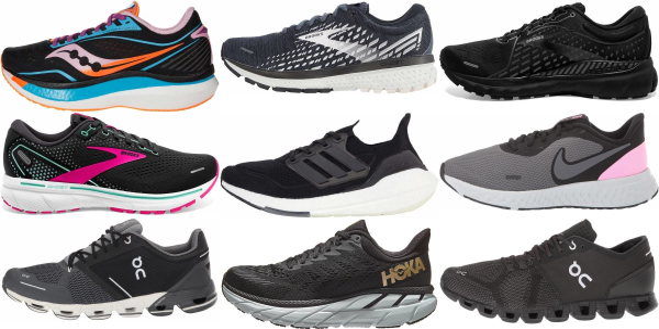 buy women's black running shoes for men and women