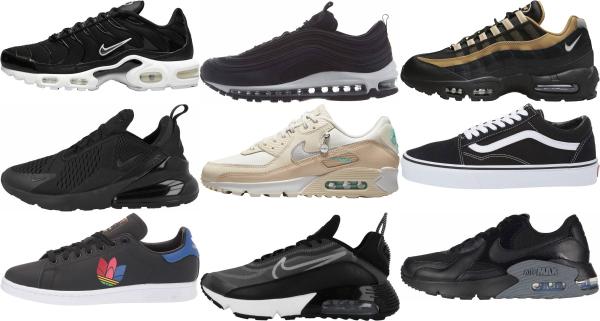buy women's black sneakers for men and women