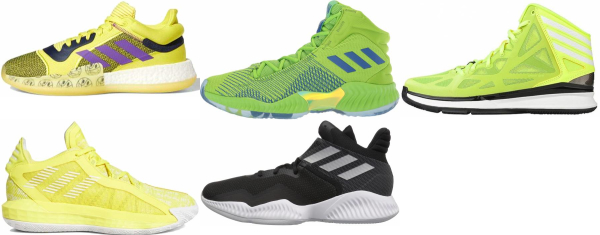 buy yellow adidas basketball shoes for men and women