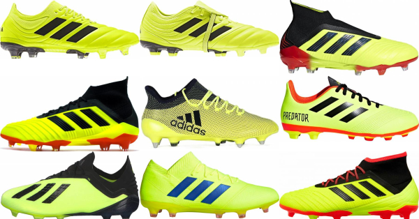 buy yellow adidas soccer cleats for men and women