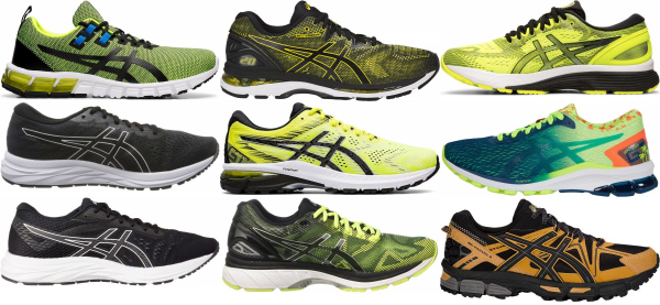 buy yellow asics running shoes for men and women