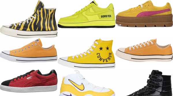 buy yellow basketball sneakers for men and women