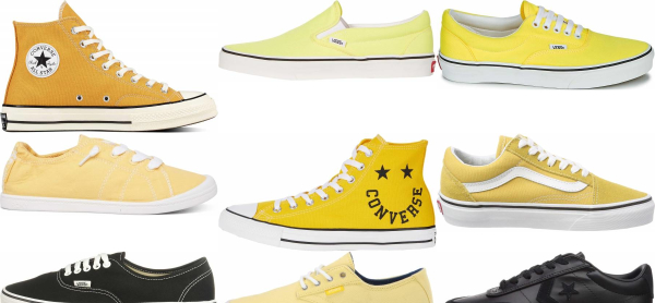 buy yellow canvas sneakers for men and women