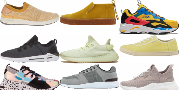 buy yellow casual sneakers for men and women
