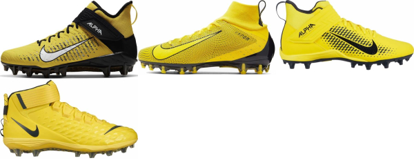 buy yellow football cleats for men and women