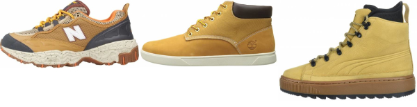 buy yellow hiking sneakers for men and women