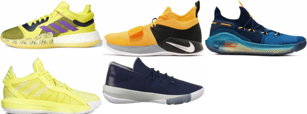 buy yellow low basketball shoes for men and women