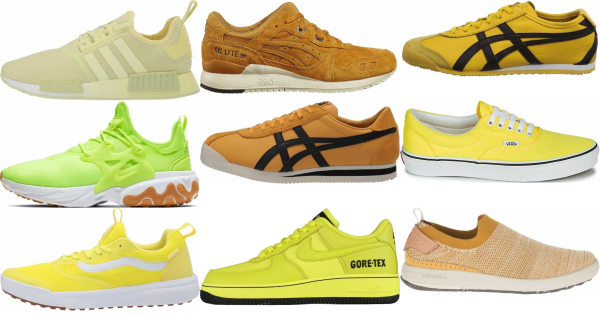 buy yellow low top sneakers for men and women