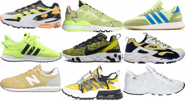 buy yellow mesh sneakers for men and women