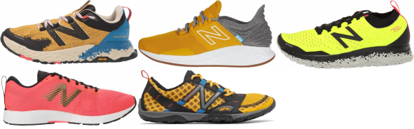 buy yellow new balance running shoes for men and women