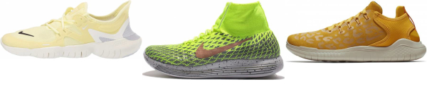 buy yellow nike running shoes for men and women