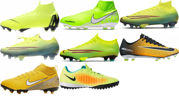 buy yellow nike soccer cleats for men and women