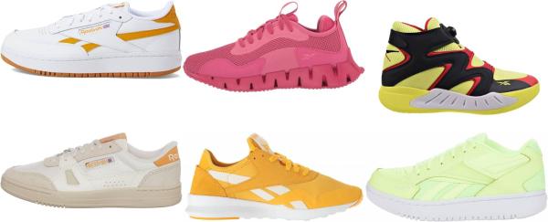 buy yellow reebok sneakers for men and women