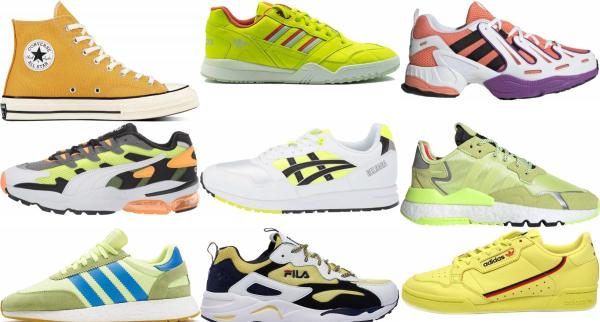 buy yellow retro sneakers for men and women