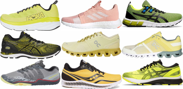 buy yellow running shoes for men and women
