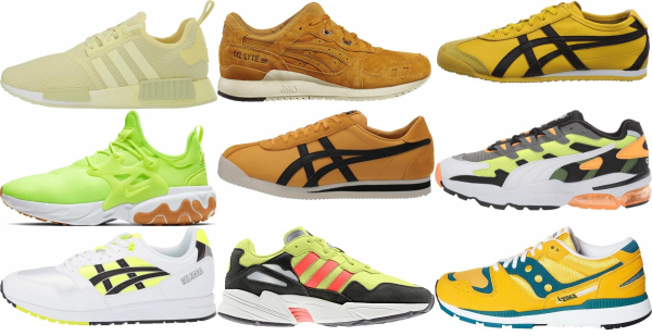 buy yellow running sneakers for men and women