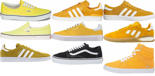 buy yellow skate sneakers for men and women