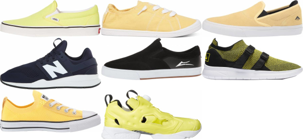 buy yellow slip-on sneakers for men and women