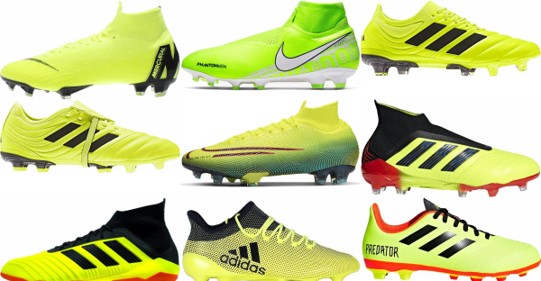 buy yellow soccer cleats for men and women